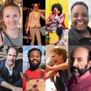 Fall Clown Gym teachers: Julia Proctor, Spark, Omari Soulfinger, Michelle N. Matlock, Geoff Sobelle, Ralf Jean-Pierre, Hilary Chaplin, and Aitor Basauri.